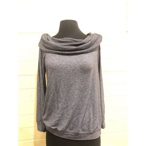 Spendid Cozy Gray Cowl Neck Sweater size small